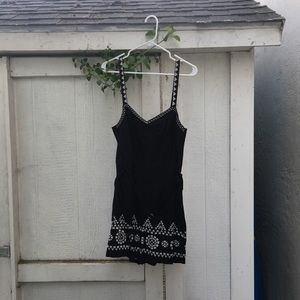 Anthropologie Black Embroidered Romper.